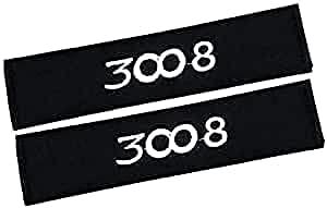 2 Piezas Carbono Fibra CinturóN Seguridad Almohadilla Hombro Para Peugeot 3008,Con Logo Almohadillas CinturóN De Seguridad Accesorios Interiore