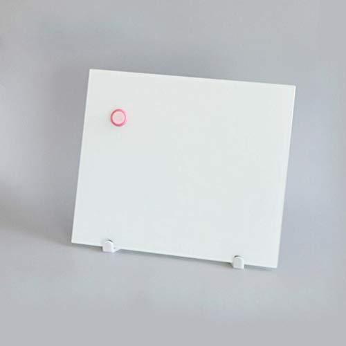 SRMTS Vidrio sin Marco con Soporte pequeño, Escritorio, pequeño, Pizarra, Conjuntos de Pizarra magnética