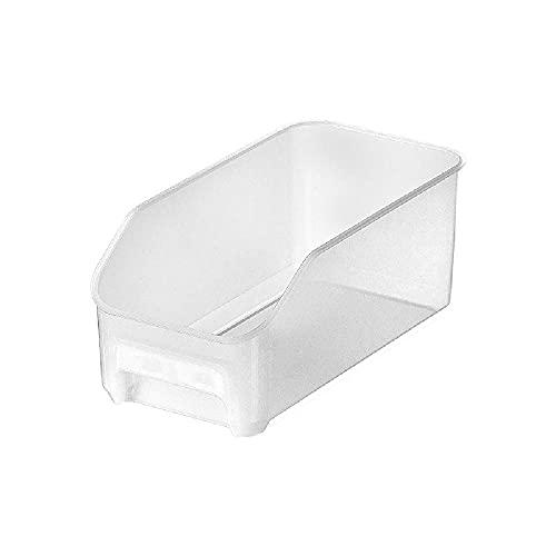 Frucht- und Gemüse-Kühlschrank Aufbewahrungsbox Kunststoff transparente Schubladenart Tiefgefrorene Lebensmittelkonservierungsbox,White