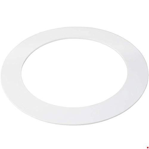 HARRRRD 10 Pack White Plastic Trim Ring for 8