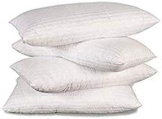 - EvergreenWeb -Juego de 4 almohadas de cama (forma clásica rectangular) ortopédicas, indeformables y de dureza media. Material: fibra de foam. Dimensiones: 40 x 72 x 13 (altura) cm