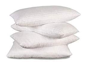 Evergreenweb - Set di 4 Cuscino Guanciale da Letto a saponetta Fibra, Ortopedico, Indeformabile, durezza Media 40x72 Alto 13 cm
