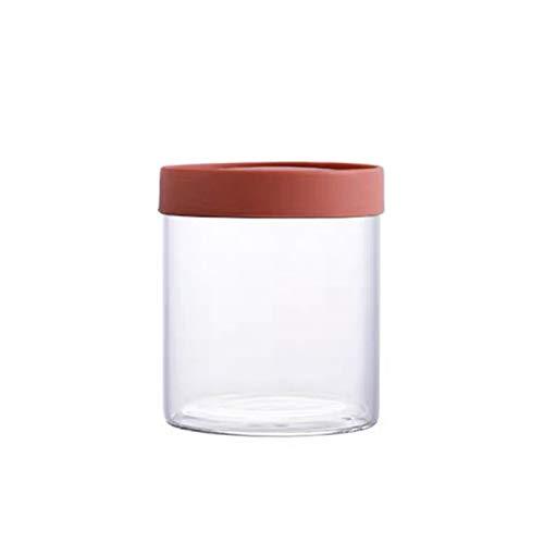 YUMEIGE Caja de almacenamiento de cosméticos Tarro de cristal hermético, frasco de almacenamiento de grano de cocina, caja de almacenamiento de productos secos de tuerca con tapa, material transparent