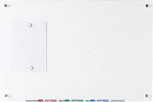 Audio-Visual Direct Magnetic White Glass Dry-Erase Board Set