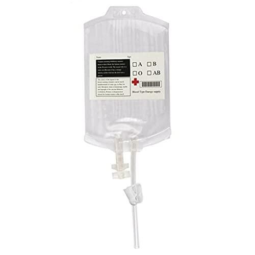 OKAYOU バッグ安全なPVC素材再利用可能な血液ドリンクバッグ透明な医療ハロウィーン吸血鬼ポーチ小道具