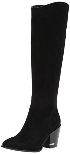 Calvin Klein Women's MASSIE Knee High Boot, Black, 2 UK