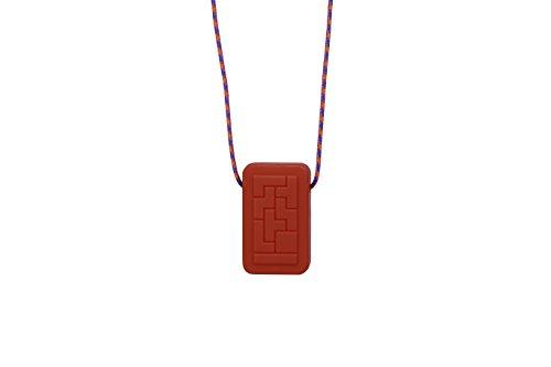 Collar sensorial Geotag, juguete para morder para niños con autismo y TDAH, de Chewigem rojo rosso
