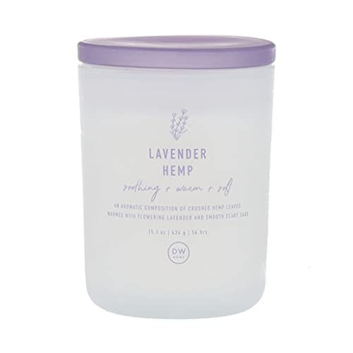 DW Home Richly Scented Lavender Hemp Large Double Wick Candle (15.3 oz)