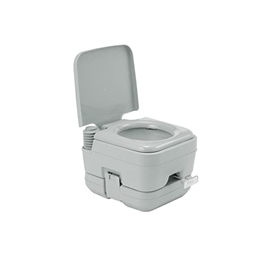 Portable Toilet with Detachable Tanks Durable Leak Easy to Use, Porta Potty up to 50 Flushes Perfect for Camping and Other Recreational Activities- Light Grey