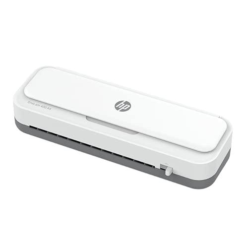 HP OneLam 400 - Plastificadora A4, 75/80-125 micras, 400 mm por minuto, incluye línea de corte, redondeador de esquinas y láminas de plastificación