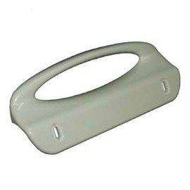 Tirador de puerta de refrigerador blanca larga 189 mm, 130 mm, distancia entre ejes agujeros 2061766024 ZOPPAS ZANUSSI ELECTROLUX 2061766024, 2061766008 206