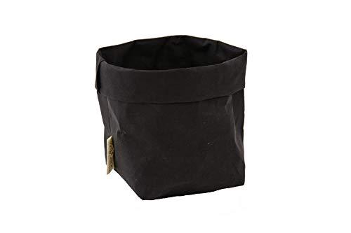 B&P Italia Piccolo Sacchetto Portapane, Fibra di cellulosa, Nero, 14 cm