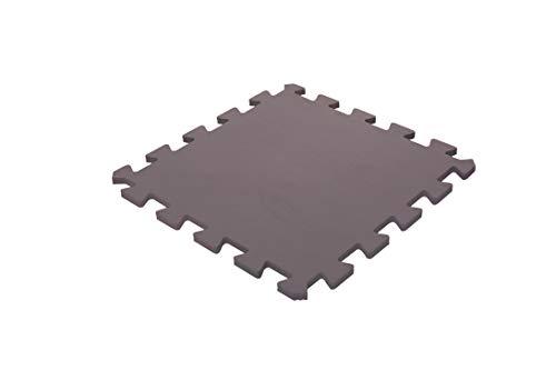 Iris Ohyama - Tappeto di Protezione da Pavimento Puzzle 8 Pezzi impilabili/Materasso da Palestra/Fitness in Schiuma Eva, Eva, Marrone, 30 cm