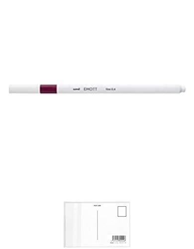 三菱鉛筆 EMOTT(エモット) 水性サインペン PEM-SYレッドワイン60 【× 7 本 】 + 画材屋ドットコム ポストカードA