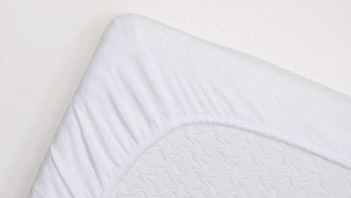 Snoozing - Molton - Wasserdichtes PU - Spannbettlaken - 160x210/220 cm - Weiß