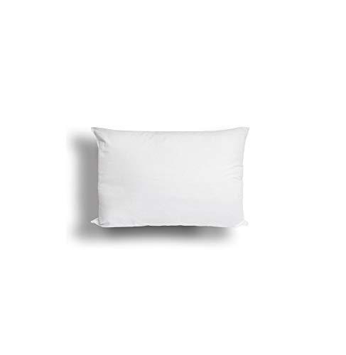 Soleil d'ocre Oreiller Anti-acarien Confort 30x50 cm, Polyester, Blanc, 30x50x15 cm