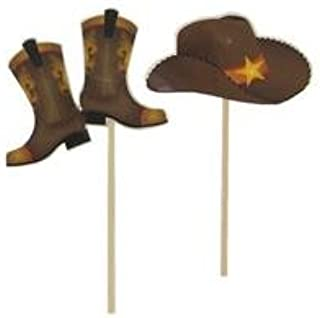 Cowboy Hats & Boots Cupcake Toppers