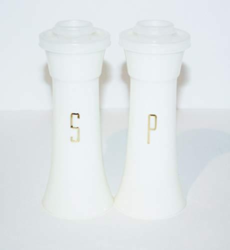 Vintage Tupperware Salt & Pepper Shakers Hourglass 6' Tall