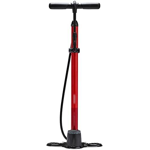 DXIUMZHP Bombas Aire Bomba De Bicicleta Piso De Aluminio, Bomba De Aire del Hogar con Barómetro Puntero, Conveniente para Presta, Válvula Schrader, Baloncesto Football (Color : Red, Size : 145psi)