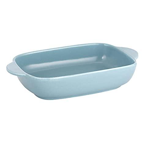 1 Piece Bakeware Creative Binaural Baking Pan Baking Sheet For Cooking Cake Light Blue