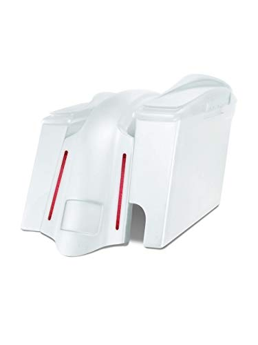 New Harley Davidson 6 extended stretched saddlebags and Replacement LED fender for 09-13 touring mo...