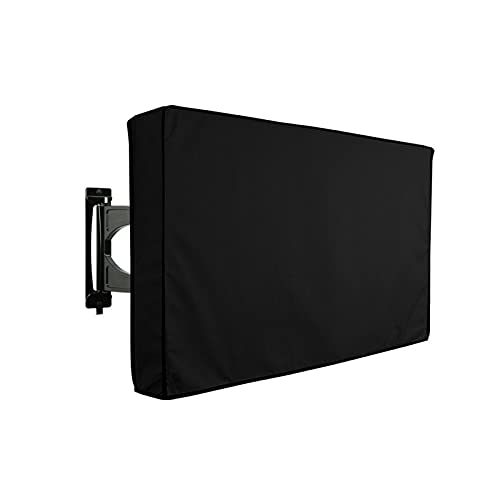 DASNTERED Outdoor TV Cover, Weatherproof Anti Scratch Oxford Cloth Waterproof Outdoor TV Cover Home Garden TV Screen Protectors for Outside LED, LCD, OLED Flat Screen TVs