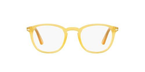 Persol - Occhiali da vista in celluloide squadrati per uomo - 3143-V SENAPE - 49/21/140mm, Senape