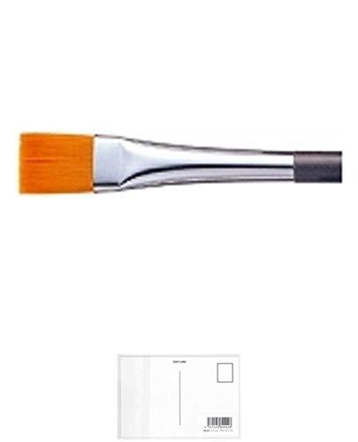 ぺんてる デザイン筆 平筆 3号 FDP5-3 + 画材屋ドットコム ポストカードA