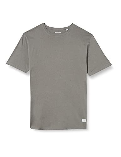 Jack & Jones Jjenoa Tee SS Crew Neck PS T-Shirt, Gris, 6XL Homme