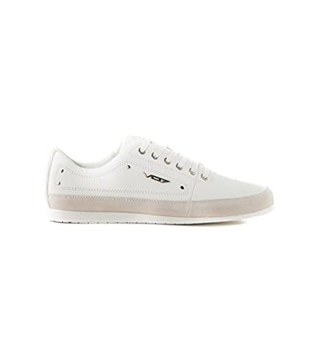 vo7 - Zapatillas de piel para yoga, color blanco, (blanco), 44 EU