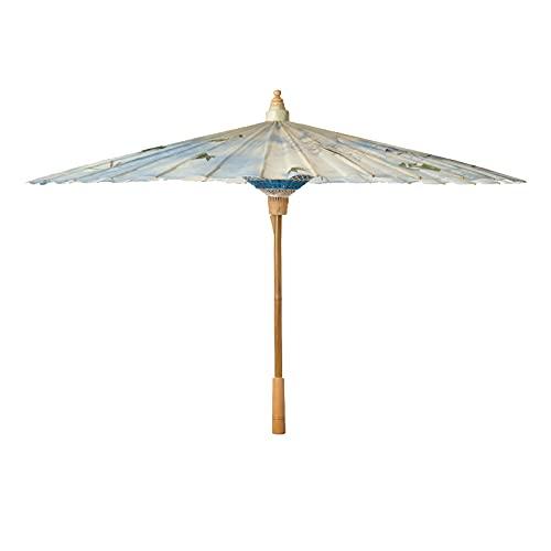 Rongxin Paraguas de papel de aceite hecho a mano a prueba de lluvia práctico Hanfu femenino antiguo viento (color: flor de melocotón nube, tamaño: desgaste)