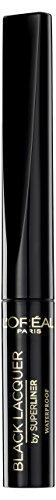 L'Oréal Paris Super Liner Black Lacquer, schwarz - ultra-präziser Flüssig-Eyeliner mit extra-black Formel, so verführerisch glänzend wie Vinyl - für einen dramatischen Look, 1er Pack (1 x 2 ml)