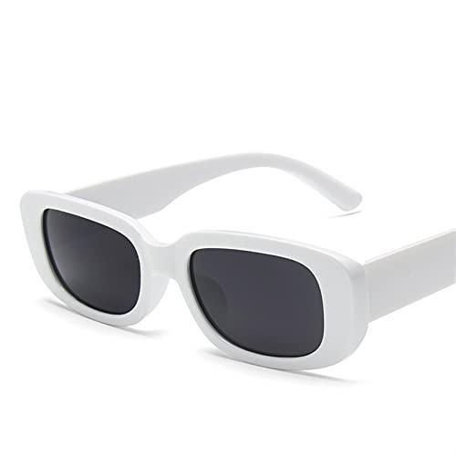 FDNFG Occhiali da Sole Occhiali da Sole Quadrati Classici Signore Piccoli Occhiali da Sole rettangolari (Lenses Color : C5 Withe)