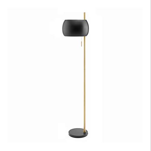 Lámparas de Pie Lámpara de Piso Luz de Pie 66' Nordic Lámpara de pie Negro tipo enchufable con conmutador de extracción del metal grande Vertical piso lámpara de mesa for el dormitorio y sala de estar