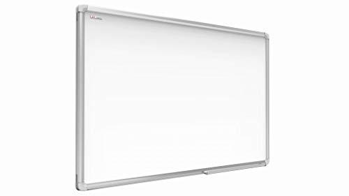 ALLboards Lavagna Bianca Magnetica con Cornice in Alluminio EXPO 90x60cm Scrivibile e Cancellabile a Secco, a Parete