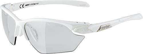 ALPINA TWIST FIVE HR S VL+ Sportbrille, Unisex– Erwachsene, white, one size
