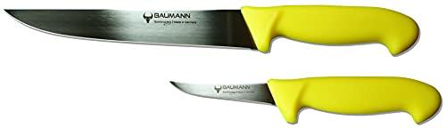 Juego de 2 cuchillos profesionales de carnicero – Fabricado en Solingen Alemania