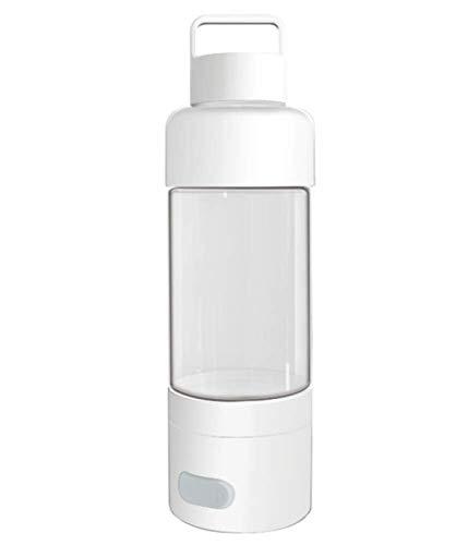 KUANDARM Botella De Agua De Vidrio Blanco Taza De Agua Rica En Hidrógeno Carga USB Fabricante De Agua Saludable, 1pc