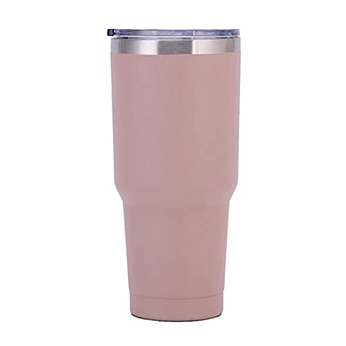 RENSHENKTO 1 taza de viaje reutilizable para deportes, botella de agua aislada, termo a prueba de fugas, color de té de acero inoxidable, 30 onzas