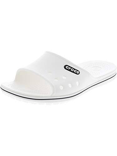 crocs Crocband II Slide Pantoletten/Clogs Herren Weiß (White/Black) - 39/40 - Pantoletten