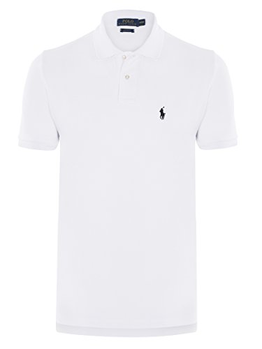 Ralph Lauren Polo Shirt Small Pony, Color:white/navy;Größe:XXL