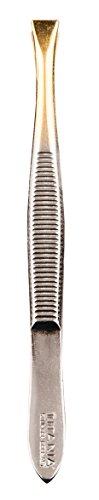 Titania Pince à épiler pointe plaqué or, droite, pack de 1 (1 x 12 g)