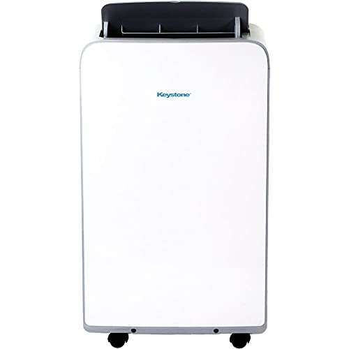 Keystone, KSTAP10MAC 115V Portable Air Conditioner with Follow Me Remote Control for a Room up to 350 Sq. Ft, White