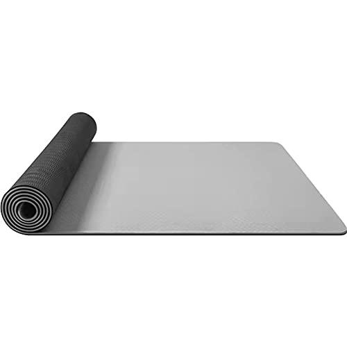 FENGCHENG Clásico Yoga Mat Ampliado Principiante Fitness Hombres Y Mujeres Antideslizante Danza Mat Home Yoga Mat gris 183cmX68cmX0.6cm