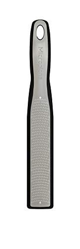 Microplane Serie Elite Zester Rallador, Acero Inoxidable, Negro, 27.50x4.9x3.18 cm