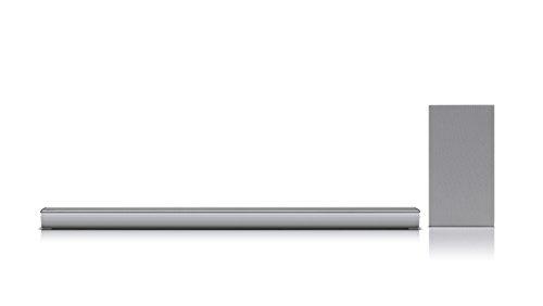 LG SJ6 2.1 Soundbar (320W, kabelloser Subwoofer, Bluetooth) silber