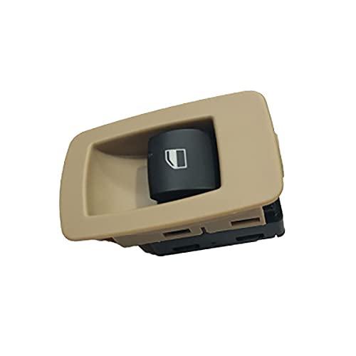 NsbsXs para BMW E90 E91 E70 E71 E72 3 Series 323i 325i 328i X5 X6 Interruptor de botón de elevación de Ventana Delantera Derecha Beige 61316945876