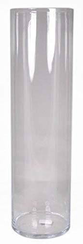 INNA-Glas Bodenvase Roman, Zylinder - rund, klar, 70cm, Ø 19,5cm - XXL Vase - Deko Vase