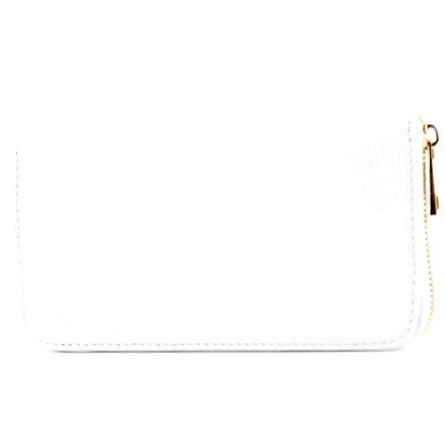 modamoda de - P02 - ital. Damen Portemonnaie Echtleder lang, Farbe:P02 Weiß