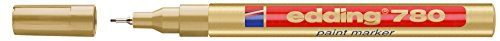 Edding 759712 - Marcador permanente, 0.8 mm, color dorado